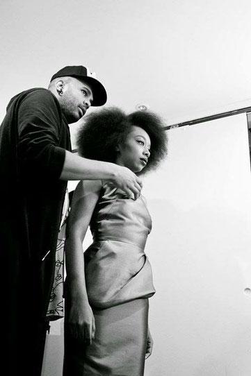 Covershoot pour le magazine Amina avec la blogueuse Fatou N'Diaye de Blackbeautybag.