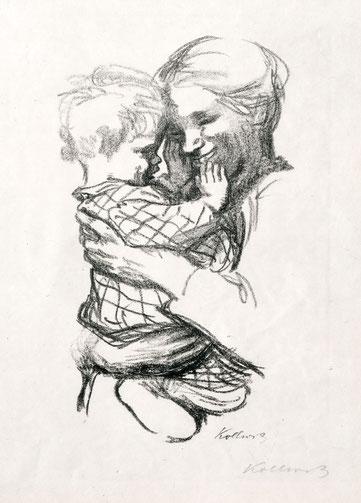 Käthe Kollwitz, Mutter mit Kind auf dem Arm, 1916. Foto: Käthe Kollwitz Museum Köln