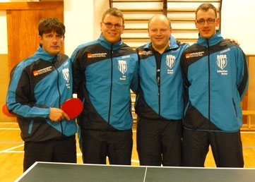 MSV 2  -  v.l.: Marcel Ring, Jan Kessel, Bernd Heller und Sebastian Heinz