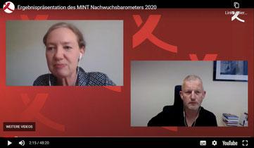 Die digitale Ergebnispräsentation des MINT Nachwuchsbarometers 2020