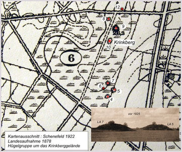 Kartenblatt Schenefeld 1922