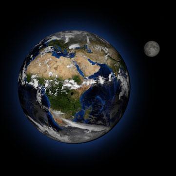 Erde Mond