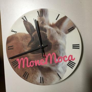 うさぎのイラストオリジナル丸時計