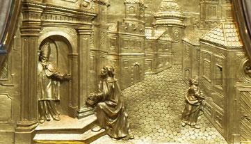 Detail aus dem Nikolausaltar, Stiftskirche Melk , Uoaei1a - Creative Commons Lizenz, commons.wikikemdia.org