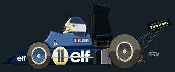 Jean Pierre Beltoise by Muneta & Cerracín - Elf2 A367C - BMW