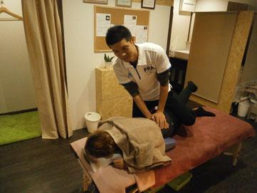 腰の整体施術