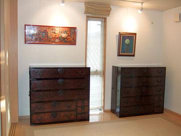 時代箪笥の修理、時代タンスの再生、時代たんすの漆塗