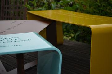 IDfer, mobilier en métal plié sur le blog d'Archi'Tendances, les tendances de demain