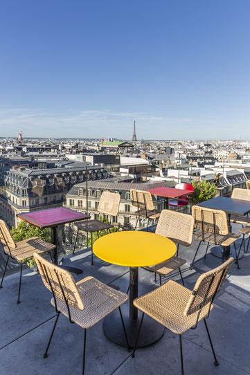 La terrasse des Galeries Lafayette Haussmann - Paris