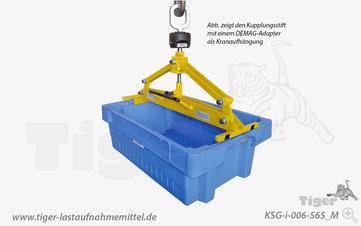 Kasten-Wendegreifer - Kunststoffbehälter