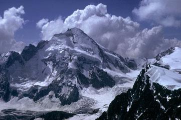 Bild: Dent d´Herens 4171 m von der Wandfluh im Jahre 1973.