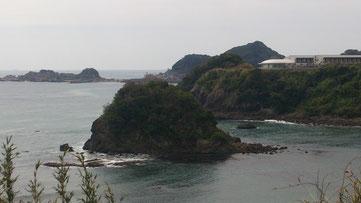 旅館 松島 からの外房では珍しい景観