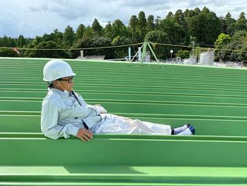 2020年9月完工 千葉県の工場 10800㎡ 金属折板屋根 防錆剤CCP-117+熱交換塗料 鉄板屋根の温度低減
