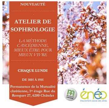 Atelier de sophrologie à Châtelet