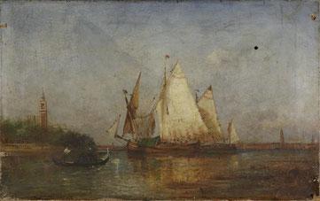 Gallard-Lépinay Paul-Charles-Emmanuel - 1842/1885 - Marine, vue de Venise -