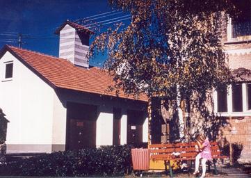 Neu errichtetes Feuerwehrmagazin 1969