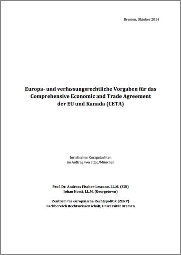PDF-Download Rechtsgutachten zu CETA