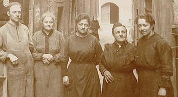 Um 1927: August Birzer senior mit Familie