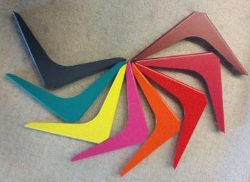 Exemple différents coloris proposés sur équerres LunYa