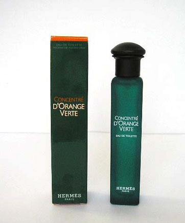 2007 - CONCENTRE D'ORANGE VERTE : SPRAY EAU DE TOILETTE 15 ML - FLACON EN VERRE TEINTE DEPOLI