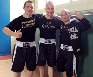 Boxing Team Ittigen 2014 in Basel / Manuel Pfister, Bernie Pulfer, Marco Spath (M's-Gym Bern)