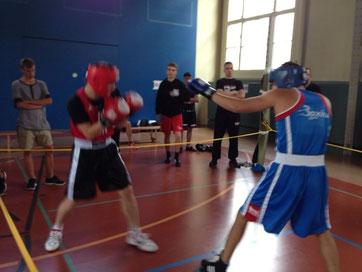 Berhard Pulfer (links) M's-Gym Bern/Boxing Team Ittigen / Swissboxing Light-Contact Boxing-CUP 2/2014 in Basel