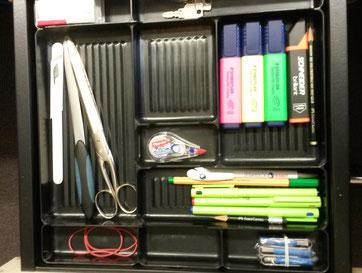 Meine oberste Schreibtischschublade