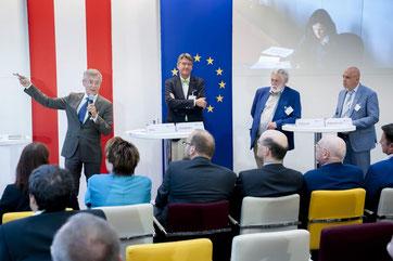 Martin Voill, Christoph Achammer, Franz Fischler, Konstantinos Karchalios (c) Austrian Standards