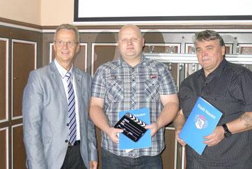 v.L. Nauens Bürgermeister, Ronny Zicke, Manfred Schwendler
