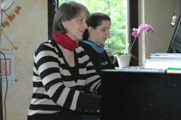 Klavierunterricht Klavier vierhändig Flügel Christel Kelemen