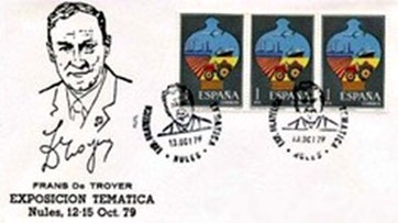 Matasello Conmemorativo Padre Frans De Troyer.