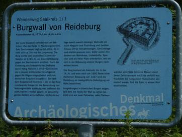 Information am Burgwall Reideburg