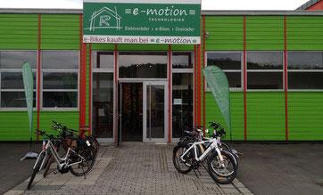 Die e-motion e-Bike Welt in Würzburg