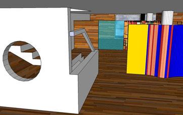 Anteproyecto de diseño de interiores y arquitectónico.