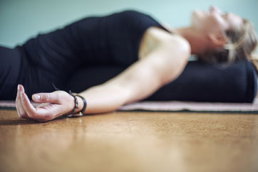 yin yoga reclined butterfly pose