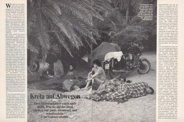 Eine Nacht unter Palmen am Strand von Vai Finikodasos im Osten der Insel.