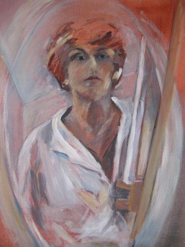 Selbstporträt, 60x80, Acryl, 2012