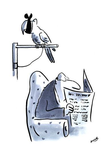 Cartoon von Mock zum Thema Presse