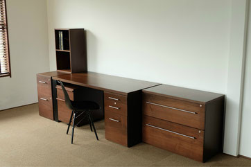 ウォールナット書斎家具