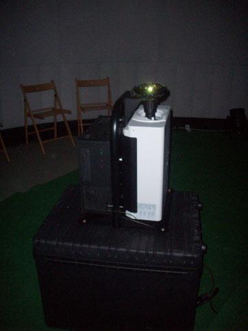 """Projektor für das Planetarium im """"Zelt"""""""