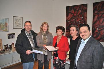 Stellwerk-Initative übergab die gesammelten Unterschriften an die Bürgermeisterin