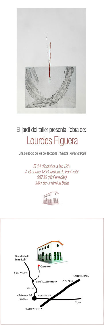 The invitation to the exhibition.