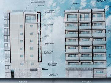 新店舗の図面です。今までのイメージを取り入れたプロバンス風の黄色い建物となります。
