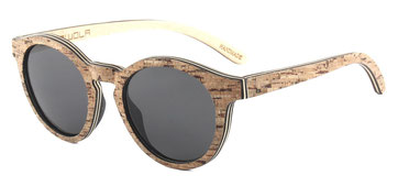 Sunglasses wood cork front