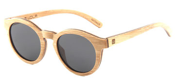 Sunglasses wood bamboo round