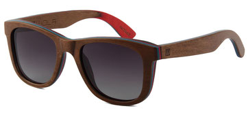 Wooden sunglasses skateboard nutwood