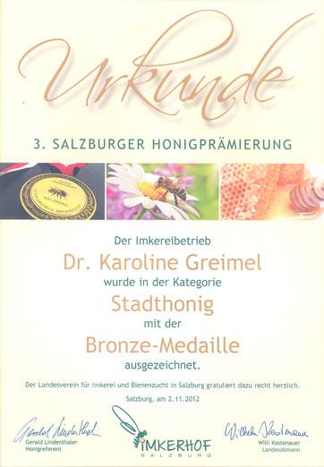 Honigprämierung 2012