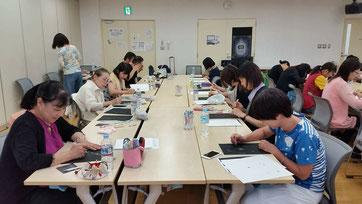 秋山峰男さんの点描画ワークショップ