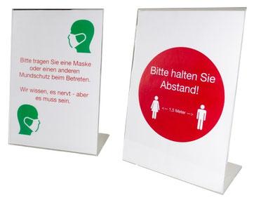 L-présentoir, article 9408010, FMU GmbH, produits pour la protection de l'hygiène