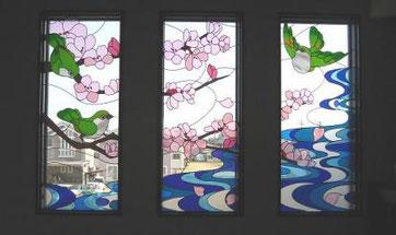和風・デザインのステンドグラス